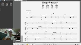 [Guitar] Thực hành đệm điệu Valse - Happy birthday