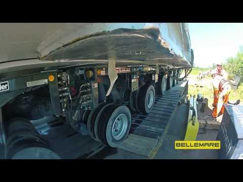 Bellemare Transport Heavy haul transport operation using Goldhofer system - oversize load