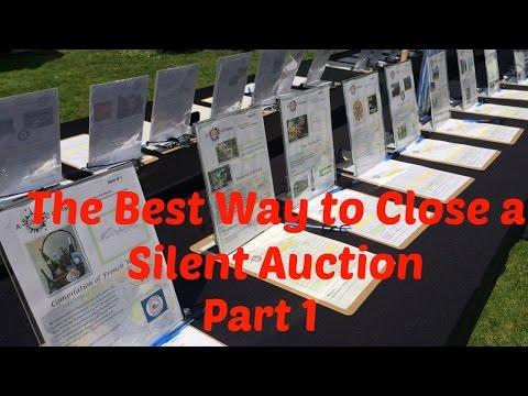 Plan A Silent Auction | Best Way to Close A Silent Auction -  Part 1