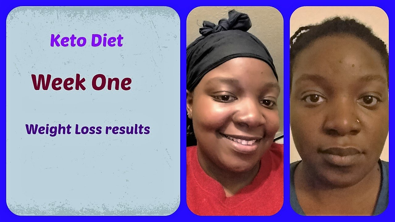 Week One | Low Carb | Keto diet | Results - YouTube