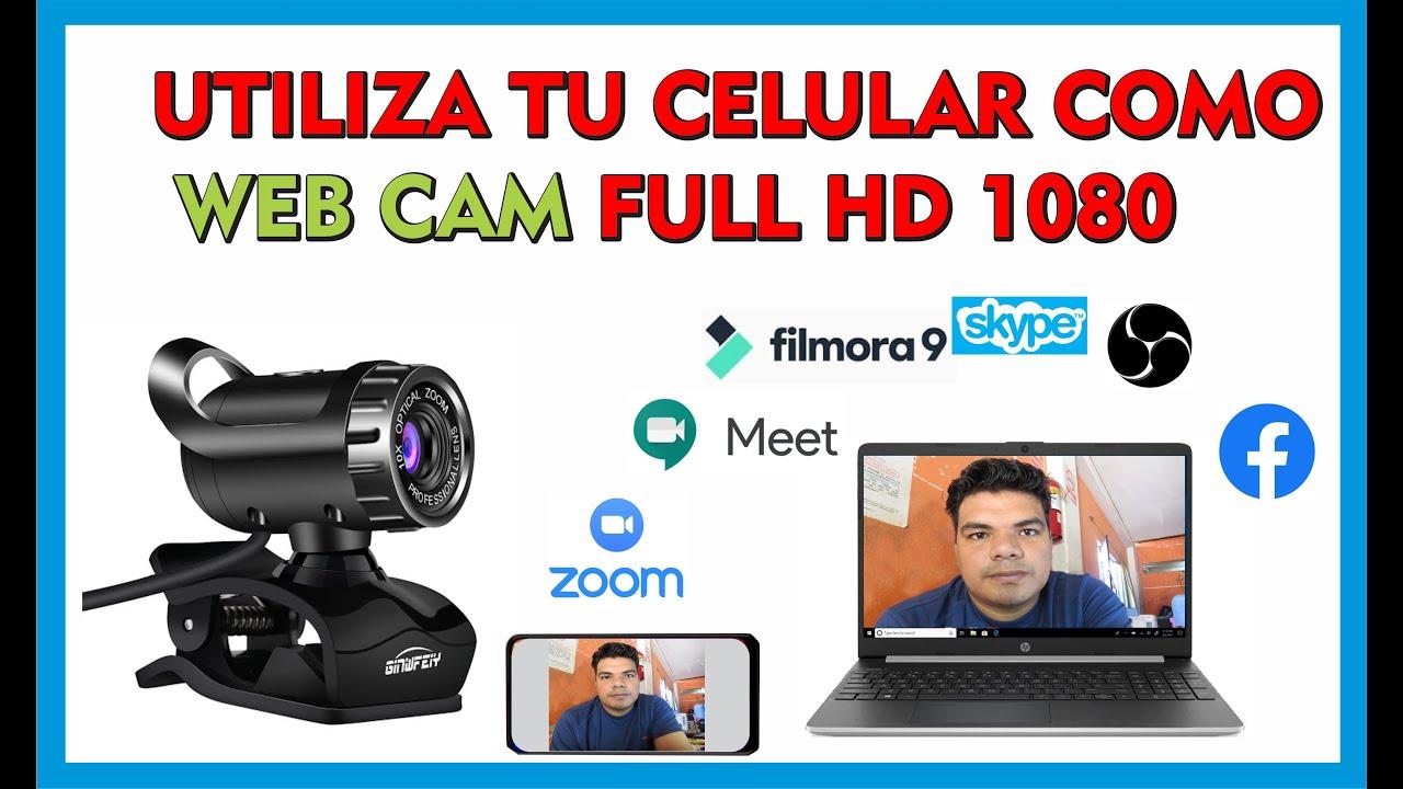 USAR EL CELULAR COMO WEB CAM / Zoom, Google Meet, Skype, Filmora, Facebook , Osb, Camtasia.