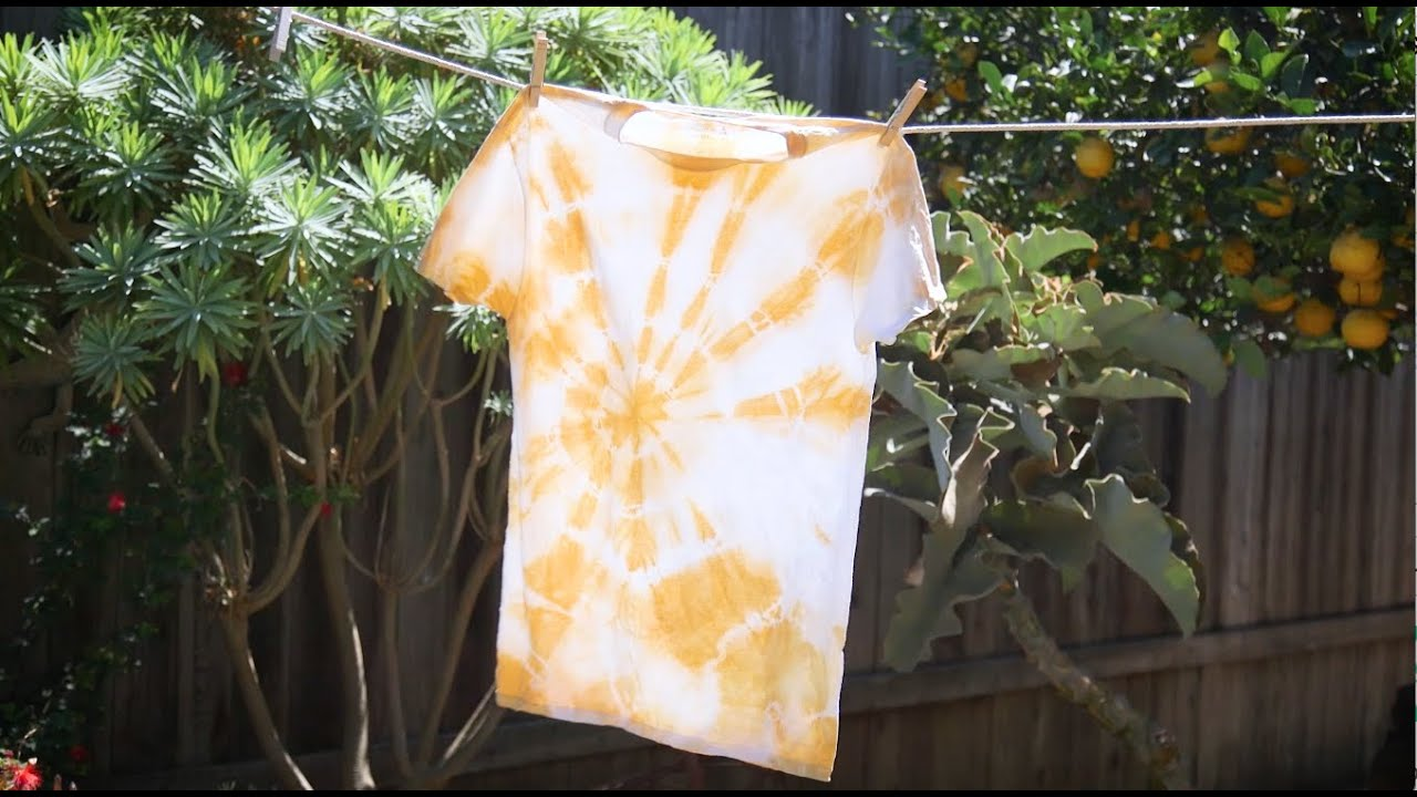 Diy Tie Dye With Turmeric Youtube