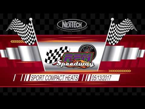 RPM Speedway IMCA Sport Compact Heat Races  05/13/2017