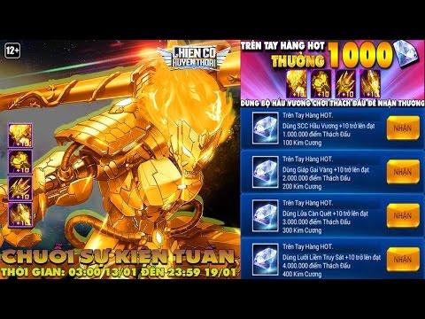 Chiến Cơ Huyền Thoại - Thách Đấu 4 Triệu Điểm Nhận 1000 Kim Cương Với Full Bộ Hầu Vương Vàng