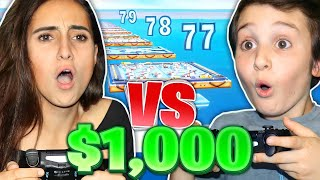 SISTER vs. 9 YR OLD For $1,000!!! (Fortnite Deathrace)