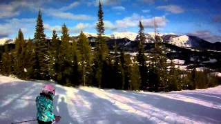 Samantha skiing to Big Sky's base Thumbnail