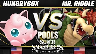 Liquid | Hungrybox (Jigglypuff) vs. DOG | Mr. Riddle (Bowser) - Ultimate Pools - SC United