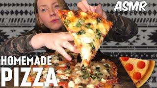 Homemade PIZZA   ASMR MUKBANG Relaxing Eating Sounds