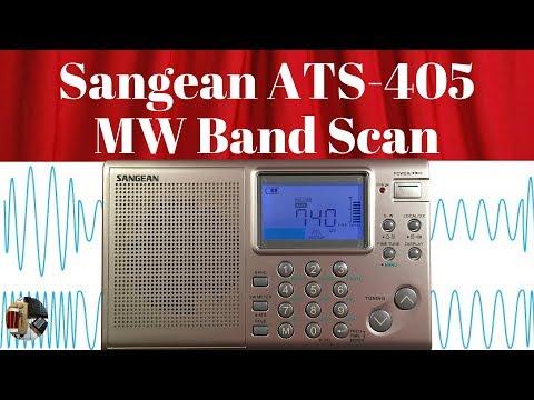 Evening Sangean ATS-405 MW Band Scan