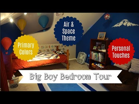 Air & Space Themed Boy Bedroom | Decorating On A Budget