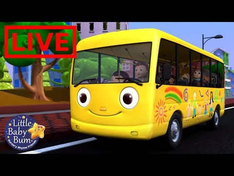 Wheels on the Bus Nursery Rhymes - ABC Songs for Kids