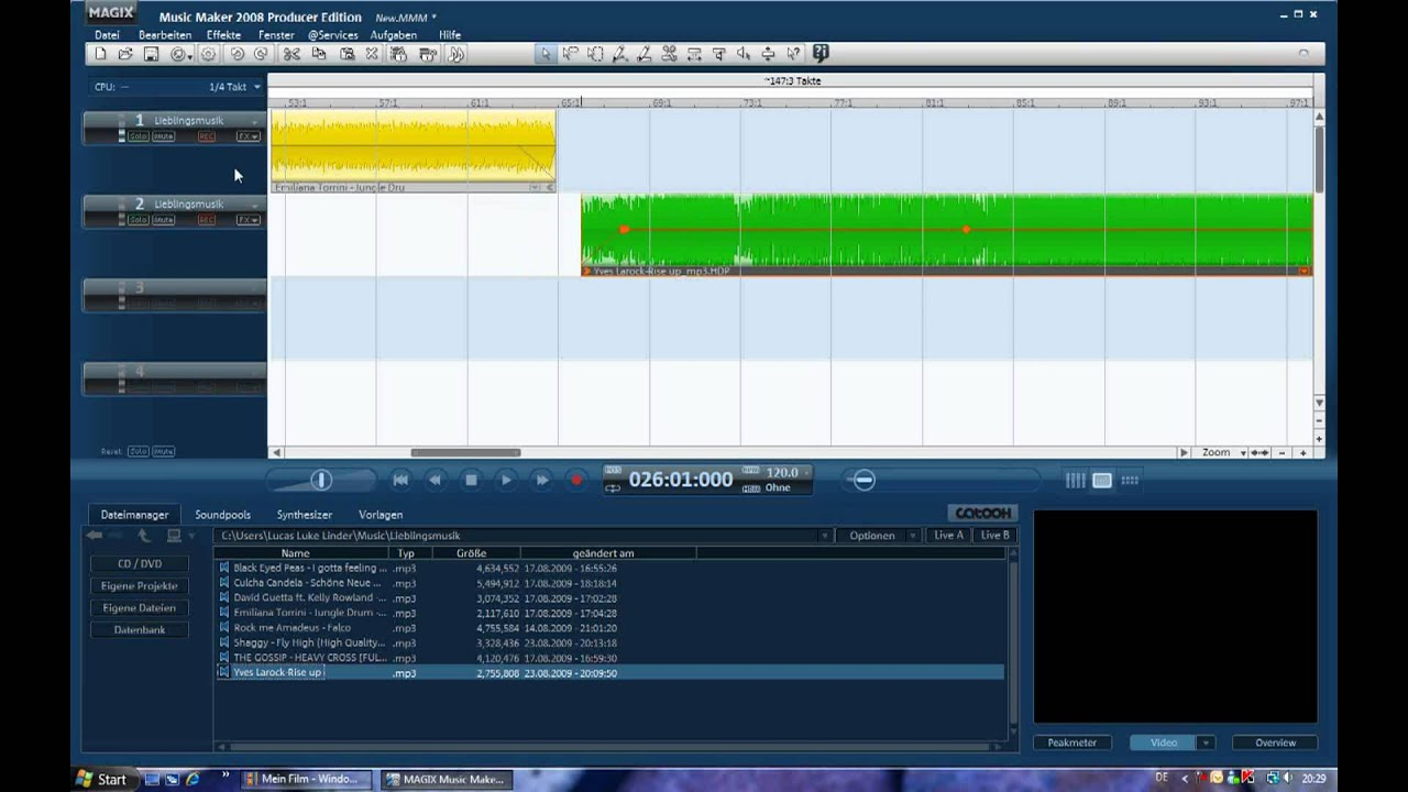Magix Music Maker 2008 Tutorial - Basic cut