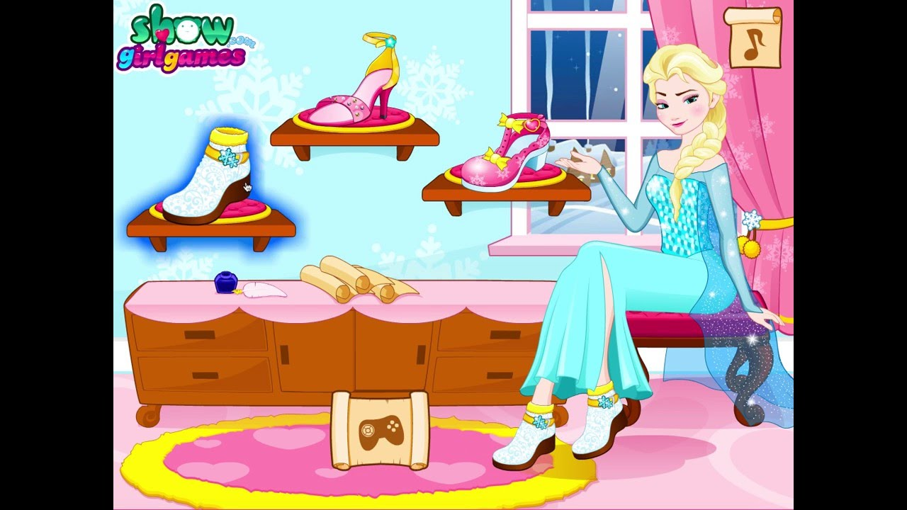 Disney Frozen Princess Elsa Shoe Design Fashion Game Youtube