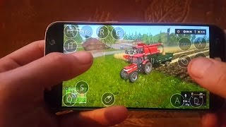 farming simulator 2017 an android(samsung galaxy s7) Bjornholm17 map