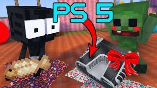Monster School UNBOXING : UNBOXING PLAYSTATION 5 NEW YEAR GIFT  - Minecraft Animation
