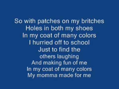 Coat Of Many Colors   Dolly Parton - With Lyrics