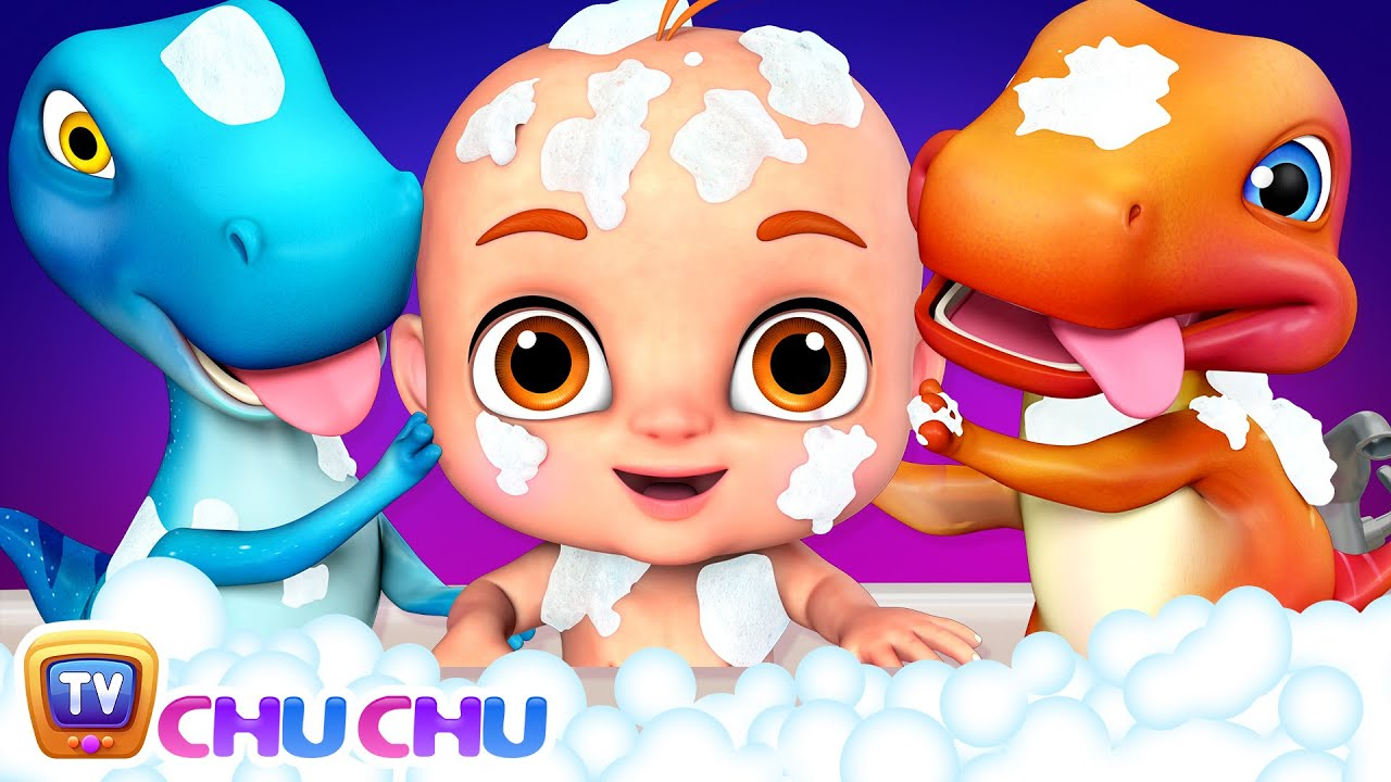 Bath Song | Lets take a Bath | ChuChu TV 3D Nursery Rhymes & Songs for Babies