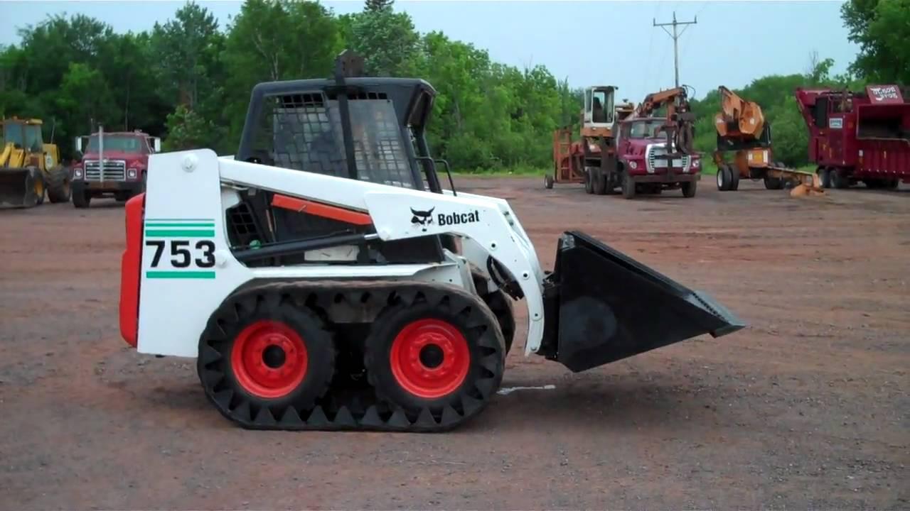 2001 Bobcat 753 Skid Steer Youtube