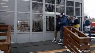 Строевым шагом На коньках в Парке Горького!