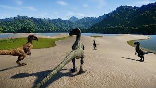 Isla Nublar Sand! Blue, Echo, Delta & Charlie Hunting Stygimoloch & Pachycephalosaurus Herd!
