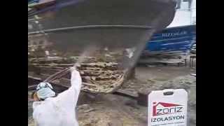 balıkçı teknesi polyurea boyama kaplama izolasyon