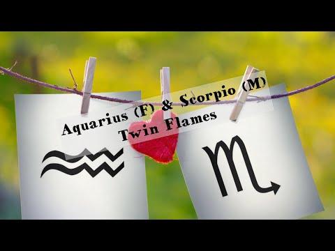 Aquarius(F) & Scorpio (m) TWIN FLAMES