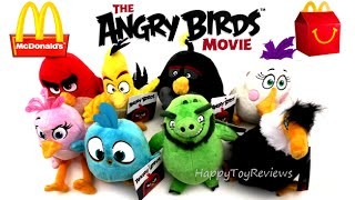 2016 THE ANGRY BIRDS MOVIE PLUSH TOYS COMPLETE SET 8 VS McDONALD'S HAPPY MEAL TOYS COLLECTION REVIEW