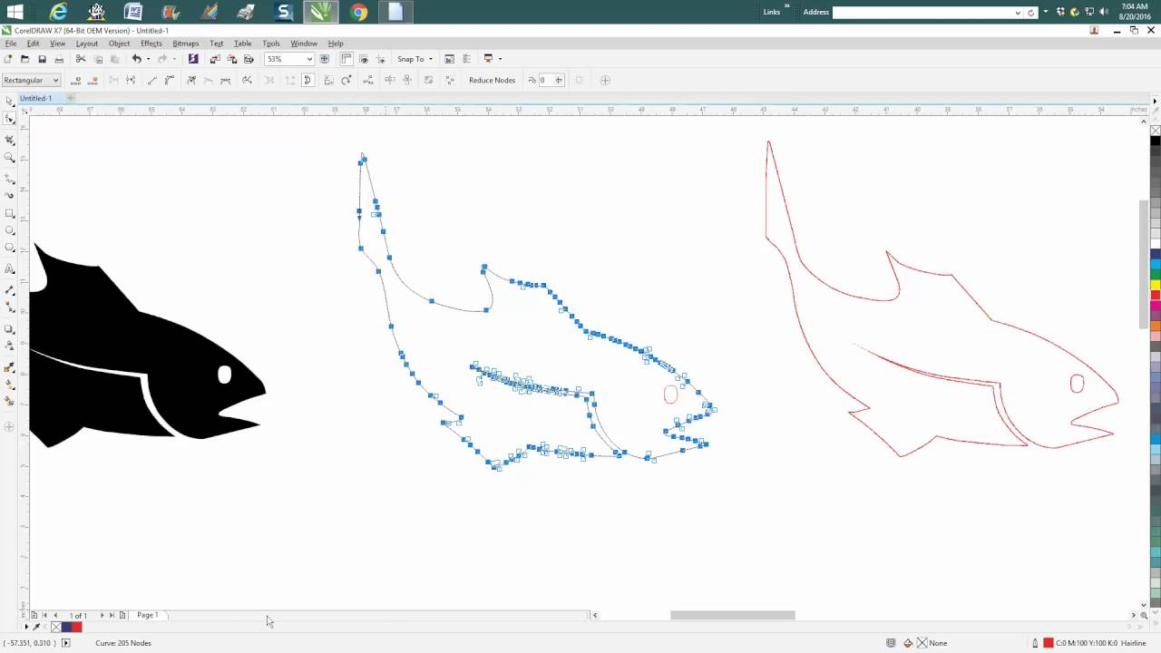 Drawing Smooth Curved Lines In Photo : Corel draw tips tricks smooth tool and some info for others