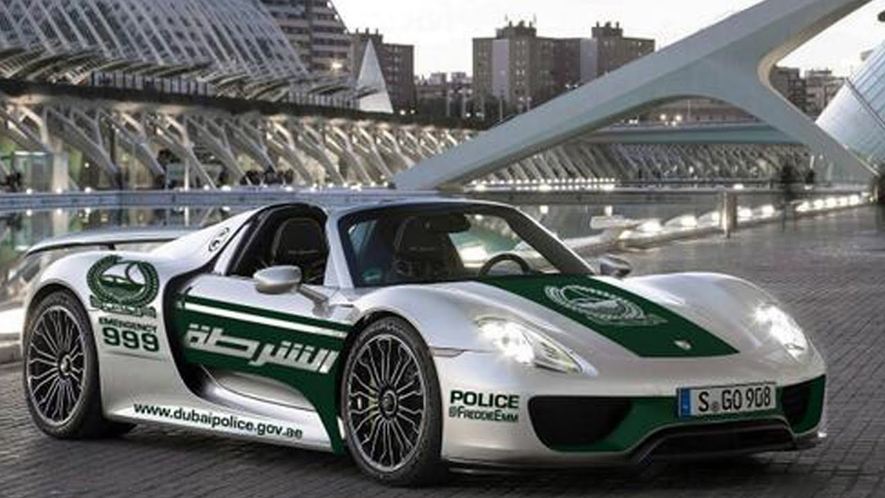 Porsche 918 Spyder Dubai Police S New Toy Youtube