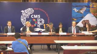 CMS COP12 - 28/10/2017 Closing Press Conference, Manila, Philippines thumbnail