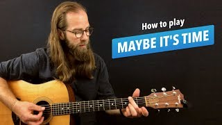"🎸 Maybe It's Time • guitar lesson w/ chords (from ""A Star is Born"") Video"