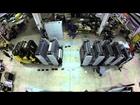 RYOBI Installation Time Lapse at DynaGraphics/Wood Printing
