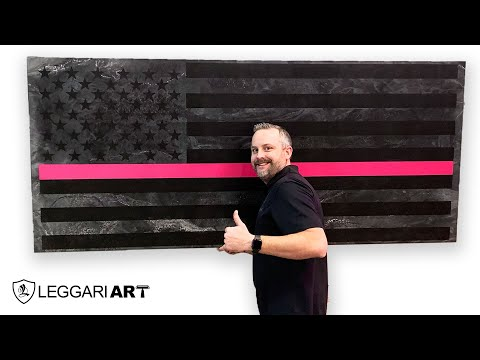 DIY Epoxy Flag Using Leggari Products | Breast Cancer Awareness Month
