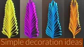 Decorative Leaves Making | Easy Paper Crafts For Kids | Paper Crafts Step By Step