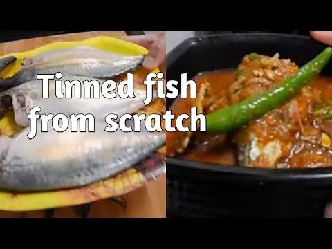 Tinned (canned) Fish From Scratch  | Nga Kouta Semba, Fresh Fish Tagi | Mackerel Canned Fish Recipe