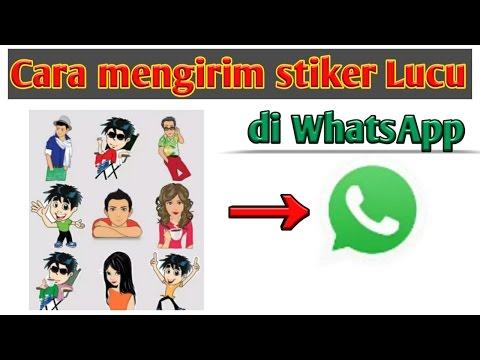 Cara Mengirim Stiker Lucu Di Whatsapp Youtube