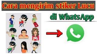 Cara mengirim Stiker Lucu di WhatsApp