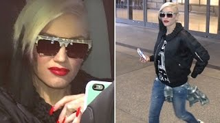 Gwen Stefani Arrives At LAX After Telling Press Boyfriend Blake Shelton 'Saved' Her
