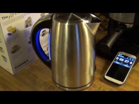Cuisinart PerfecTemp Electric Kettle Review & Boil Test