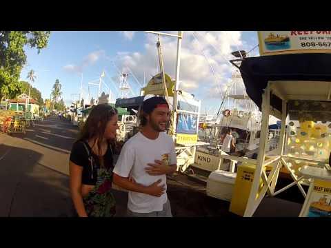 Walking Tour of Lahaina, Maui, Hawaii. Banyan Tree, Harbor and Front Street Part 1 of 3