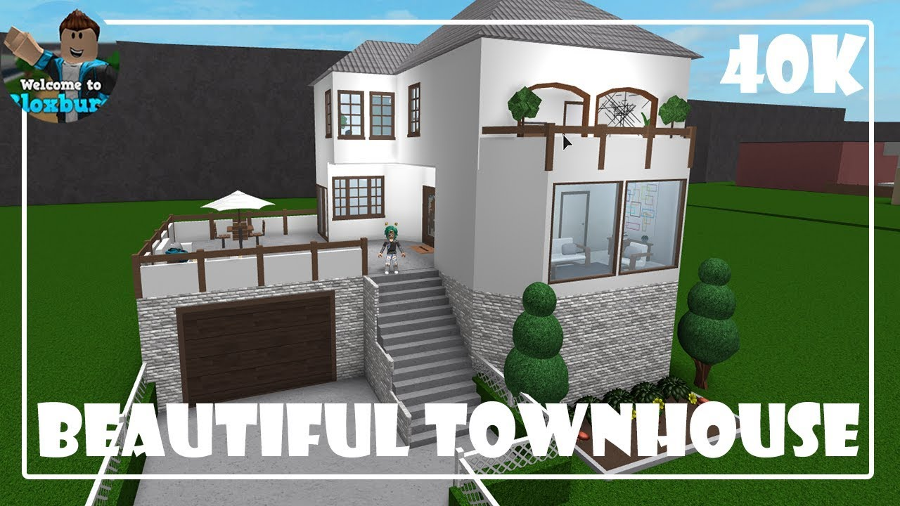 Roblox Beautiful Townhouse 40k Bloxburg Funnycat Tv
