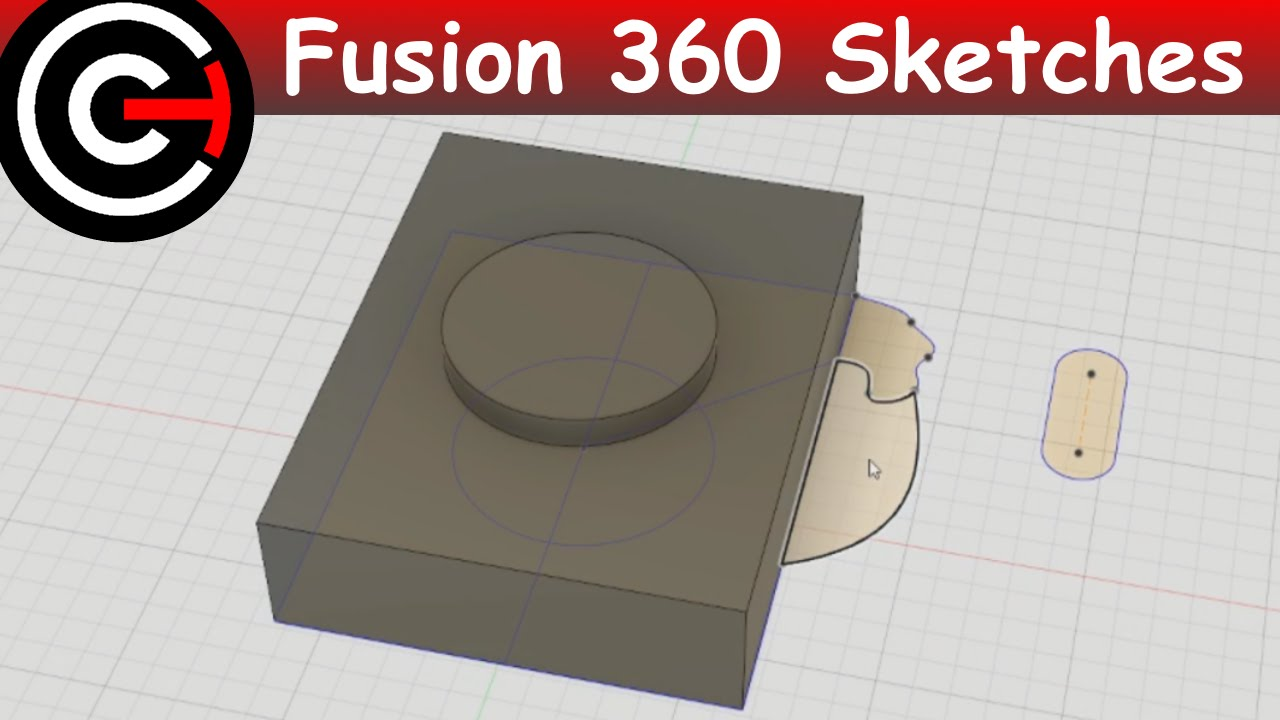 Going From 2D to 3D - Intro to Sketches - Fusion 360 #2