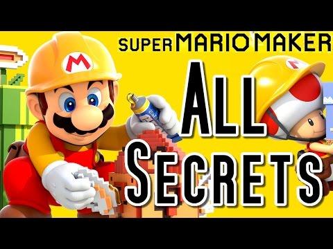 Super Mario Maker ALL SECRETS & Hidden Features (Wii U)