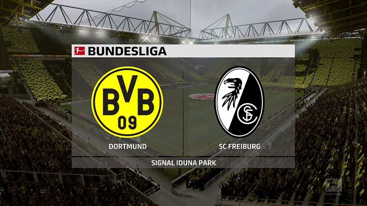 ⚽️ Dortmund vs SC Freiburg ⚽️   Bundesliga (29/02/2020 ...