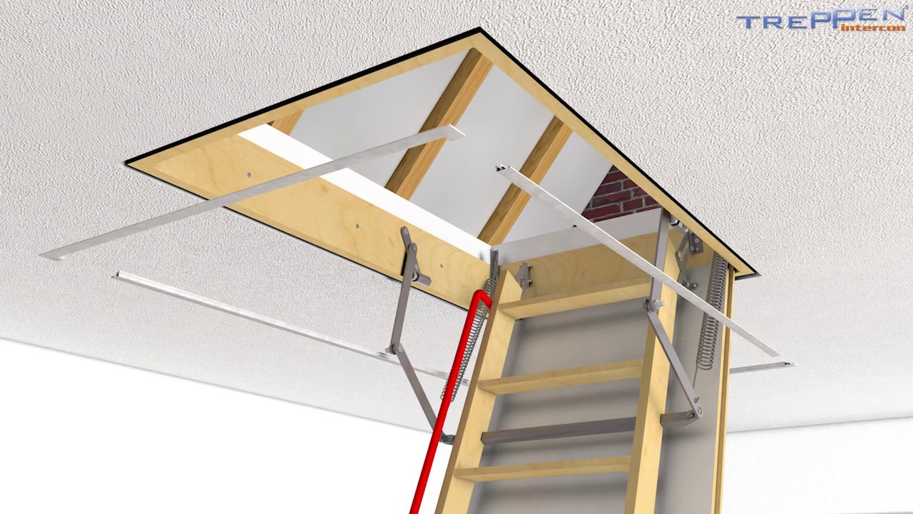Einbau Dachbodentreppe Intercon Comfort Youtube