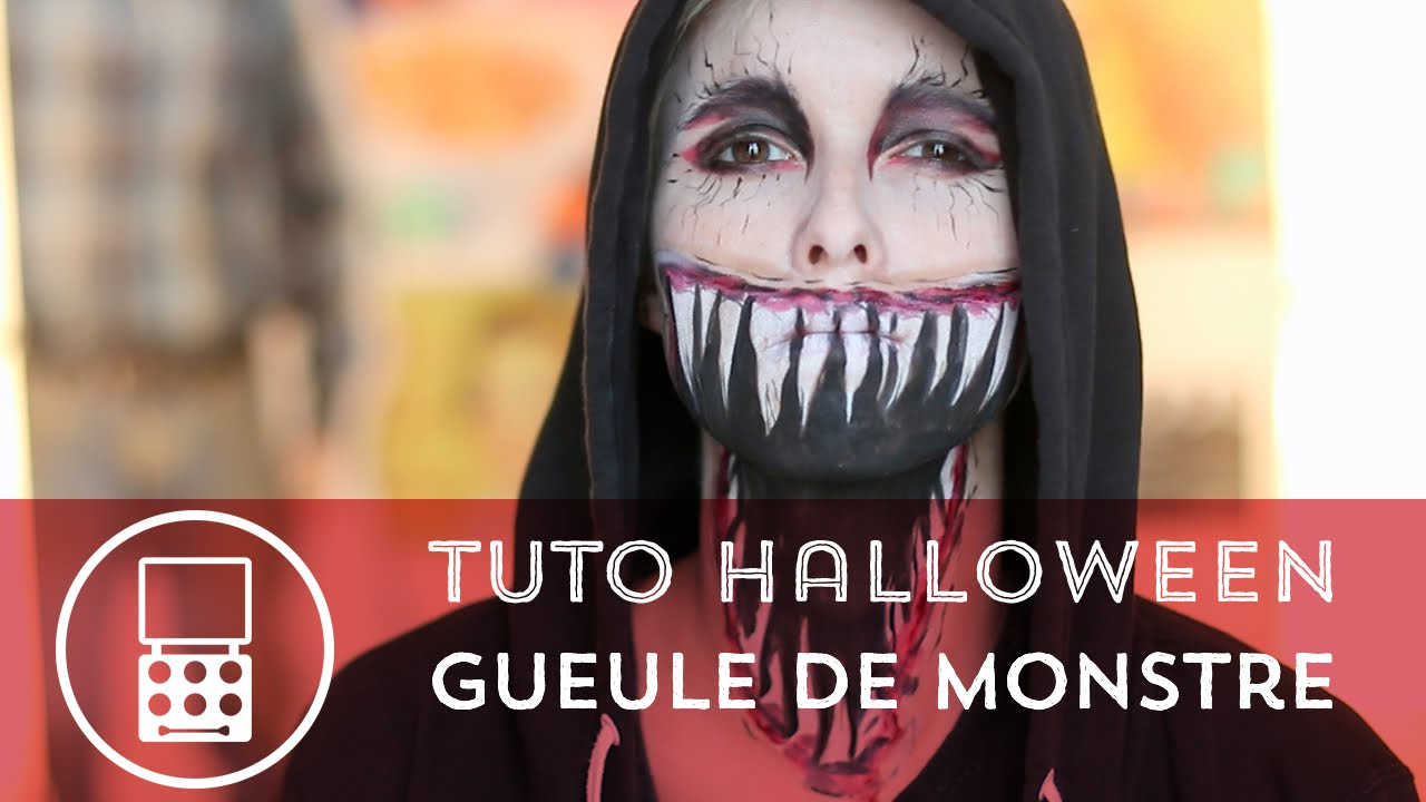 tuto maquillage d halloween la gueule de monstre youtube. Black Bedroom Furniture Sets. Home Design Ideas