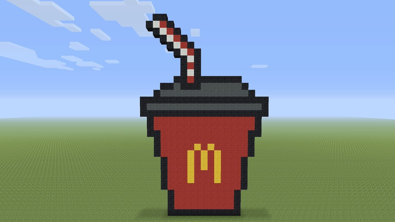 Minecraft Pixel Art Mcdonald S Cup Youtube