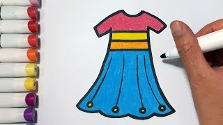 How To Draw A Dresses || Draw For Kids