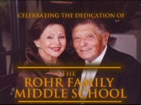 Dedication of the Rohr Middle School - 19th Annual Dinner
