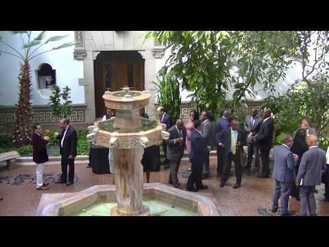 Bust Unveiling of L O Pindling. OAS Headquarters, Washington DC